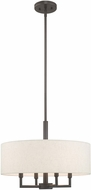 Livex 42604-92 Meridian English Bronze 18  Drum Hanging Light Fixture