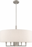 Livex 42605-91 Meridian Brushed Nickel 24  Drum Drop Ceiling Lighting