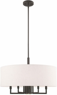 Livex 42605-92 Meridian English Bronze 24  Drum Ceiling Light Pendant