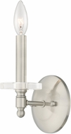Livex 42701-91 Bancroft Brushed Nickel Lighting Sconce