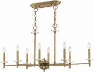 Livex 42708-01 Bancroft Antique Brass Kitchen Island Light Fixture