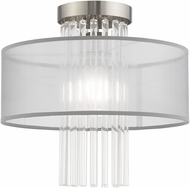 Livex 42802-91 Alexis Brushed Nickel Ceiling Lighting Fixture