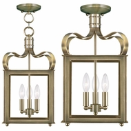 Livex 4313-01 Garfield Antique Brass Entryway Light Fixture / Ceiling Lighting Fixture