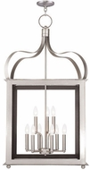 Livex 43180-91 Garfield Brushed Nickel Foyer Light Fixture