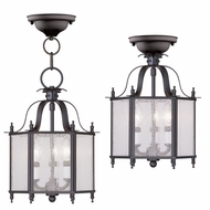 Livex 4397-07 Livingston Bronze Foyer Light Fixture / Overhead Light Fixture