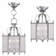 Livex 4397-91 Livingston Brushed Nickel Foyer Lighting Fixture / Overhead Lighting Fixture
