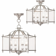 Livex 4398-91 Livingston Brushed Nickel Foyer Lighting Fixture / Ceiling Lighting Fixture