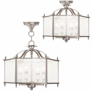 Livex 4399-91 Livingston Brushed Nickel Foyer Lighting Fixture / Overhead Lighting