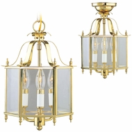 Livex 4403-02 Livingston Polished Brass Foyer Lighting / Flush Mount Lighting Fixture