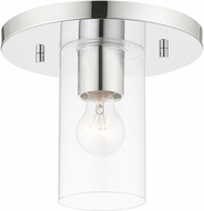 Livex 45471-05 Zurich Modern Polished Chrome Ceiling Light Fixture