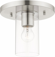 Livex 45471-91 Zurich Contemporary Brushed Nickel Flush Lighting