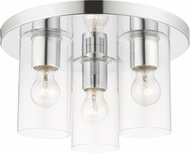 Livex 45472-05 Zurich Contemporary Polished Chrome Flush Mount Lighting