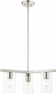 Livex 45473-91 Zurich Modern Brushed Nickel Ceiling Pendant Light