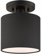 Livex 45661-04 Bainbridge Modern Black 7  Flush Ceiling Light Fixture