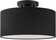 Livex 45663-04 Bainbridge Contemporary Black 13  Flush Mount Ceiling Light Fixture