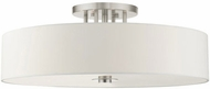 Livex 45798-91 Meridian Contemporary Brushed Nickel Home Ceiling Lighting
