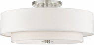 Livex 45799-91 Meridian Modern Brushed Nickel Overhead Light Fixture