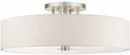 Livex 45848-91 Meridian Modern Brushed Nickel Overhead Lighting Fixture