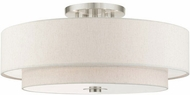 Livex 45849-91 Meridian Contemporary Brushed Nickel Ceiling Light
