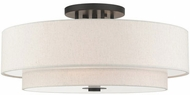 Livex 45849-92 Meridian Modern English Bronze Ceiling Light Fixture