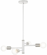 Livex 45864-03 Bannister Modern White Mini Chandelier Light