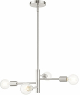 Livex 45864-91 Bannister Contemporary Brushed Nickel Mini Chandelier Light