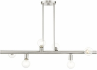 Livex 45866-91 Bannister Contemporary Brushed Nickel Kitchen Island Lighting