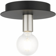 Livex 45871-04 Hillview Contemporary Black 8  Ceiling Lighting Fixture