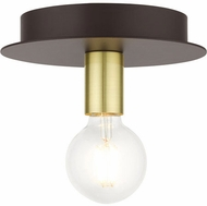 Livex 45871-07 Hillview Modern Bronze 8  Ceiling Light Fixture