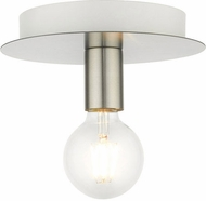 Livex 45871-91 Hillview Contemporary Brushed Nickel 8  Flush Lighting