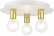 Livex 45873-03 Hillview Contemporary White 14  Flush Mount Lighting