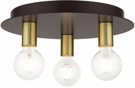 Livex 45873-07 Hillview Modern Bronze 14  Flush Mount Light Fixture