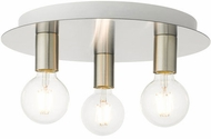 Livex 45873-91 Hillview Contemporary Brushed Nickel 14  Flush Mount Lighting Fixture