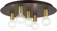 Livex 45875-07 Hillview Modern Bronze 20  Flush Ceiling Light Fixture