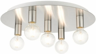 Livex 45875-91 Hillview Contemporary Brushed Nickel 20  Flush Mount Ceiling Light Fixture