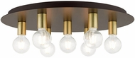 Livex 45876-07 Hillview Modern Bronze 24  Home Ceiling Lighting