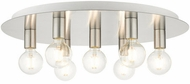 Livex 45876-91 Hillview Modern Brushed Nickel 24  Overhead Light Fixture