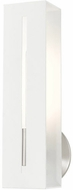 Livex 45953-13 Soma Contemporary Textured White with Brushed Nickel Wall Sconce Lighting
