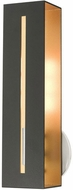 Livex 45953-14 Soma Contemporary Textured Black with Brushed Nickel Wall Light Fixture