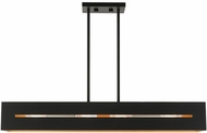 Livex 45957-14 Soma Contemporary Textured Black with Brushed Nickel Kitchen Island Light