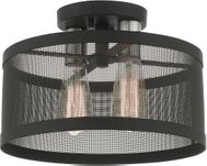 Livex 46217-04 Industro Modern Black with Brushed Nickel Accents Home Ceiling Lighting