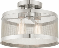 Livex 46217-91 Industro Modern Brushed Nickel Overhead Light Fixture
