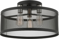 Livex 46219-04 Industro Modern Black with Brushed Nickel Accents Ceiling Light