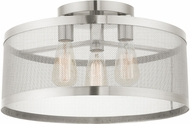 Livex 46219-91 Industro Contemporary Brushed Nickel Ceiling Light Fixture