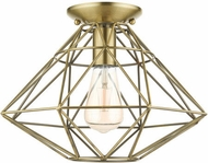 Livex 46248-01 Geometric Modern Antique Brass 14  Overhead Lighting Fixture