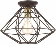Livex 46248-07 Geometric Modern Bronze 14  Ceiling Light