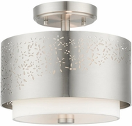 Livex 46267-91 Noria Contemporary Brushed Nickel 12  Ceiling Light Fixture