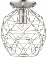 Livex 46598-91 Geometrix Modern Brushed Nickel 8  Home Ceiling Lighting