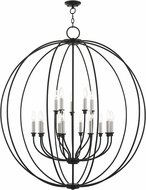 Livex 46690-04 Milania Black with Brushed Nickel Accents Chandelier Light