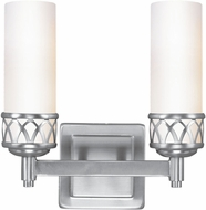Livex 4722-91 Westfield Contemporary Brushed Nickel ADA 2-Light Bath Sconce